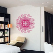 Wall Stickers,Mandala Flower Indian Bedroom Wall Decal Art Stickers Mural Home Vinyl Family