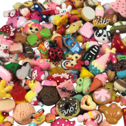 YAKA 30pcs Mix Flat Back Resin Embellishments Scrapbooking supplies DIY Crafts Applique Flatback embellishments Art Decorations