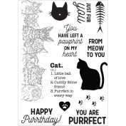 Cat - Pawfect Clear Stamps 15cm x 10cm