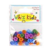 Whiz Kids by Rachel Ellen - Card Craft Decorative Embellishment Plastic Buttons