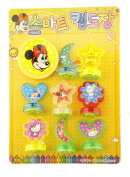 HAND Minnie Mouse Children's Ink Stamps Featuring Doraemon, Hello Kitty, Snoopy and Stitch - Set of 8 Stamps with Ink Pad