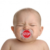 CHILL, BABY stop sign pacifier PACIFIERS FOR THE YOUNG AND HIP