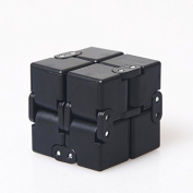 Infinity Fidget Toy in Style With Pressure Reduction Toy - Infinity Turn Cube Edc Fidgeting - Killing Time Toys for For ADD, ADHD, Anxiety, and Autism Adult and Children(Black)