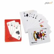 Hofumix Mini Playing Cards Poker Playing Cards Travel Portable Foil Plated Poker Playing Cards Porker Games Set