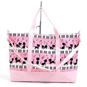 Black cat waltz to dance on top of the gusset bag piano lessons of the fashion Kids (Pink) made in Japan N0900100