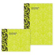 Elegant Lace Lime Green Personalised Post-it Notes - 10cm x 7.6cm