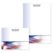 American Flag Personalised Post-it Notes - 10cm x 15cm