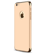 iPhone 7 Case,iBarbe 3 In 1 Hybrid thin and Slim Hard PC protective Holder Coated Non Slip Matte Surface with glitter Electroplate Frame Protection Shell card cover for Apple iPhone7 4.7 inch Gold
