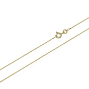 Nklaus 45 cm Venetian Chain Necklace 333 Yellow Gold Belcher Chain Necklace 0.6 mm 0,9g 3703