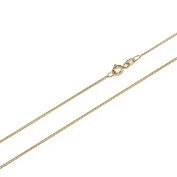 Nklaus 3823, 1.95 g 1.1 mm wide length 50 cm curb chain necklace 585 Yellow Gold