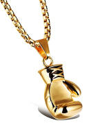 HCHIDS Men Women Punk Stainless Steel Boxing Glove Chain Pendant Necklace