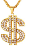 Rap Hip Hop Dollar Gold Plated Men's Necklace