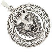 Wolf, Celtic Pendant 925 Silver
