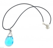 Sword Art Online Necklace Pendant Necklace Chain Necklace Pandent Necklace Asuna Yuuki Crystal Turquoise Glitter Anime Manga Cosplay Accessories Stainless Steel