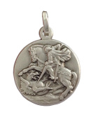 925 Sterling Silver Saint George Medal - The Patron Saints Medals