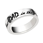 lauhonmin Mens Ring for Dad Gift for Papa - Best Dad in the World Stainless Steel