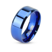 Men's Stainless Steel Coloured Bleue- Boy Teens Wedding Marriage Engagement Ring Fashion Jewellery For Men – 4 Sizes to Choose From 59,62,65,67
