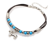 Leo pearl anklet anklet miniblings ethnic folklore India silver turquoise