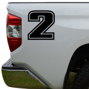 Racing Race Number 2 Two Style 3 Die Cut Vinyl Decal Sticker For Go Kart Car Truck Motorcycle Window Bumper Wall Decor Size- [2 inch/5 cm] Tall Colour- Gloss White