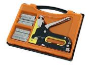 3 In 1 Heavy Duty Staple Nail Gun - Stapler Tacker Upholstery Tool In Case