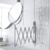 Wall Mounted Shaving Makeup Tilt Swivel Extendable Bathroom Magnifing Mirror