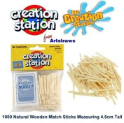 Creation Station Wooden Match Sticks Natural Colour Matchsticks Modelling Sticks