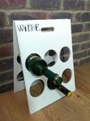 Painted Wooden Wine Rack - Takes 6 Bottles