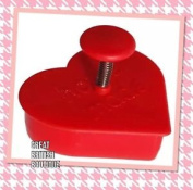 """Cute Cookie Cutter & Stamper """"home Made"""" By Sass & Belle - For Perfect Cookies!"""