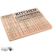 Practical Kitchen Conversions Wooden Wood Chopping Board Block Measurement