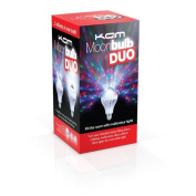Kam Moonbulb Duo Rotating Lamp Bulb Rgb+w Led Disco Lighting Effect