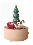 Christmas Tree Music Box With Round Base, Perfect Christmas Gift for Kids