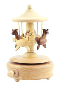 Vintage Fashion Carousel Music Box Living Room Office Table Decoration