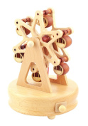 Classical Delightful Ferris Wheel Wooden Musical Box Decoration Gift for Kids