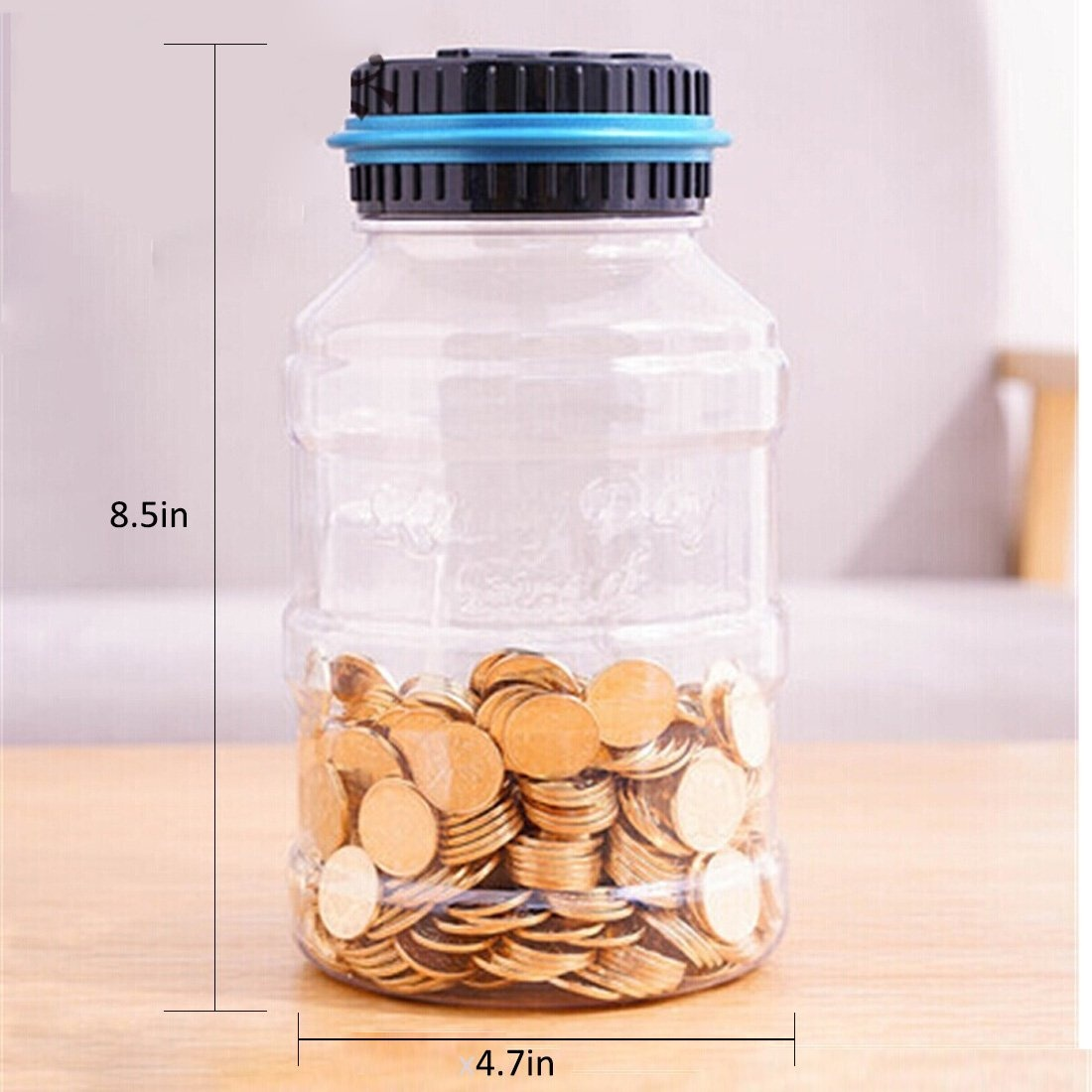 81fb26081ec4 AblueA Piggy Bank Digital Coin Bank Large Money Saving Box Jar Bank LED  Display
