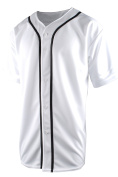 TL Men's Baseball Hipster Button Down Athletic Short Sleeve Jersey Tops