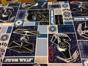 1/2 Yard - Star Wars Rebel Villain Ships Cotton Fabric (Great for Quilting, Sewing, Craft Projects, Throw Pillows & More) 1/2 Yard X 110cm
