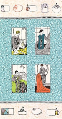 Vintage Notions Dressmaker Cotton Fabric Quilt Block Panel - a Amy Brickman Design (Great for Quilting, Sewing, Craft Projects, Quilt or Throw Pillows) 60cm X 110cm