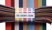 THIS SEASON'S colours Fall / Winter 1.6cm Fold Over Elastic, Stretch FOE Trim Set of 10 Colours, 1 or 2 Yards