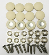 Set Of 12 Dura Snap Upholstery Buttons #30 French Vanilla Vinyl