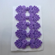 Five Pairs of Bead Chinese Frogs fasteners closure buttons in Lavender, Available in 12 Colours.