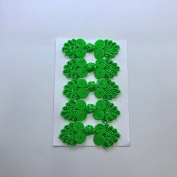 Five Pairs of Bead Chinese Frogs fasteners closure buttons in Emerald Green, Available in 12 Colours.