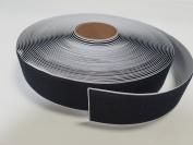 5.1cm BLACK SELF-ADHESIVE HOOK and LOOP FASTENER - HOOK SIDE ONLY - 1 YARD