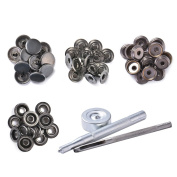 XCSOURCE 15mm 15Sets Metal Press Stud Snap Button Popper Fastener Die Punch Tool Set for DIY Sewing Repair Clothes CR020