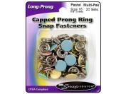 Snapsource SNS72162 Snap Sz 16 Capped Prong Multi Pak Pastl