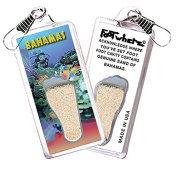Bahamas FootWhere Souvenir Zipper-Pull. Made in USA