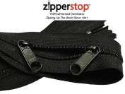 Zipperstop wholesale - Double Slide Zipper YKK #4.5 Coil with Two Long Pull Head to Head closed ended on both sides Made in USA