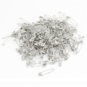DealMux Coiled Design Safety Pins 100pcs Silver Tone