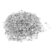 DealMux Metal Clothing Trimming Fastener Clip Button Safety Pins 500pcs Silver Tone