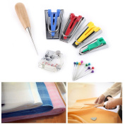 Fabric Bias Tape Maker Kit, Binding Sew Bias Tape Maker Set DIY Patchwork Craft Making Tool