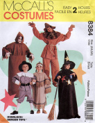 McCalls 8384 Childs Halloween Costume Ghoul, Pilgrim, Scarecrow, Witch, Indian Sewing Pattern Size 2 - 4, 5 - 6